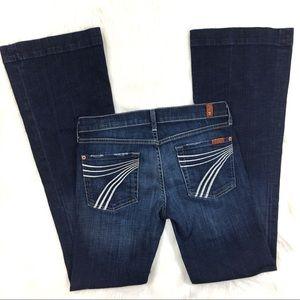 7 For All Mankind Dojo Dark Wash Jeans Size 28